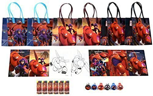 Disney Big Hero 6 Party Favor Set - 6 Packs (42 Pcs) by GoodyPlus