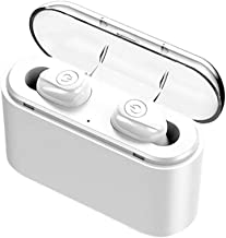 Barcley Bluetooth Earphones,True Wireless Headphones Blutooth 5.0 X8S in-Ear Earbuds IPX5 Waterproof Mini Headset 10H Playtime 3D Stereo Sound Sport Earpiece with Portable Charging Case (White)