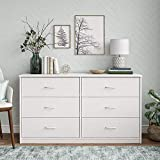 Mainstay Drawer Dresser, (A White, 6-Drawer)