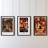 Indiana Jones Trilogie-Set Filmposter, Kunstdruck,