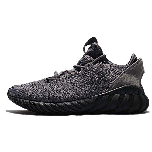 adidas Herren Tubular Doom Sock Pk Fitnessschuhe, Grau/Schwarz/Weiß (Gricua Negbas Ftwbla), 44 EU
