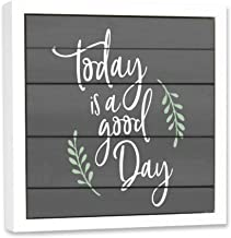 Think Pray Gift Make Today Awesome Open Art - Secret Dry Erase Message Art Board - Hanging Hooks - Magnetic