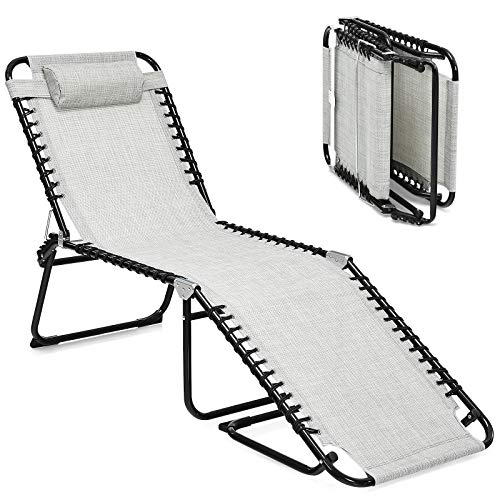 GYMAX Adjustable Chaise Lounge