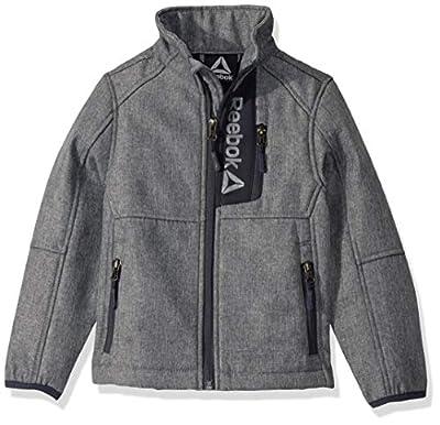 Reebok Boys' Little Active Super Soft Shell Jacket, All Star Grey Heather, 5/6
