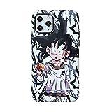 DNZJHHM Dragon Ball Z Goku Personaje Silicona Suave Teléfono Caso Cubrir Apropiado for iPhone 6 6s 7 7 Plus X XR XS 11 12 Pro MAX Mini-A05_For iPhone 11