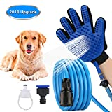 BWORPPY Kit de Ducha para Mascotas con Guantes de baño, rociador de Ducha para Mascotas, Accesorio de Ducha para Uso en Interiores y Exteriores