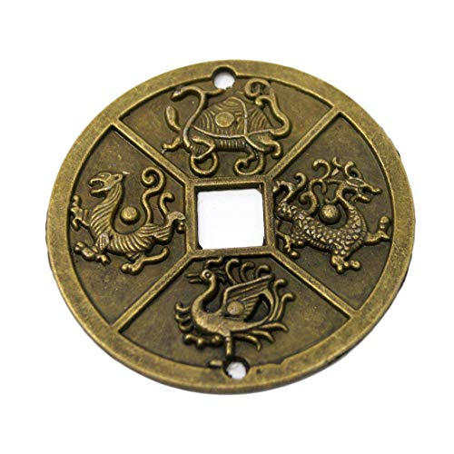 1pcs Chinese Four Celestial Animals Coins Feng Shui I Ching Coins Dia:2.4' + Gift Bag Y1003
