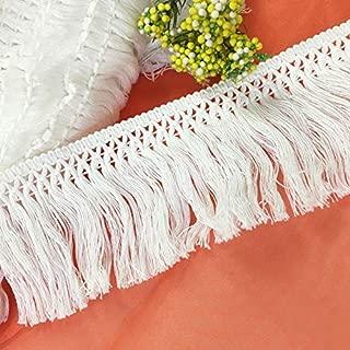New Design 15 Yards Fringe Lace Trim Wedding Bridal Ribbon Tassel Applique Sewing, Wedding Lace Trim - Black Crochet Trim, Lace Bead, Thin Lace Trim, Lace Butterflies, Lace Trims, Pearl Fringe Trim