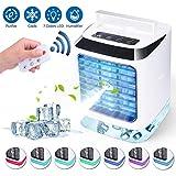 Sholov Portable USB Mini Air Cooler,Mini Air Conditioner 3-in-1 Personal Air Conditioner Fan, Humidifier...