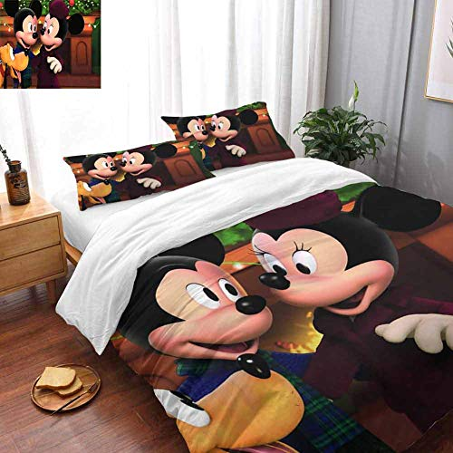 Mickey & Minnie Mouse Bed Sheets and Comforter Set