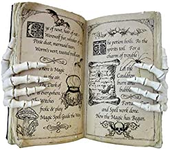 Darice Ivory Skeleton Hand Potion Book