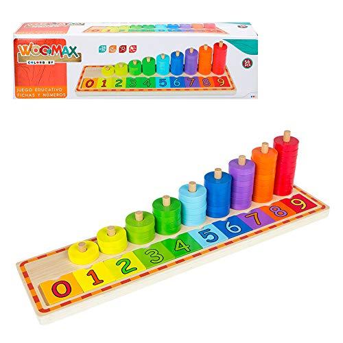WOOMAX- Juego educativo de madera Colorbaby 43633