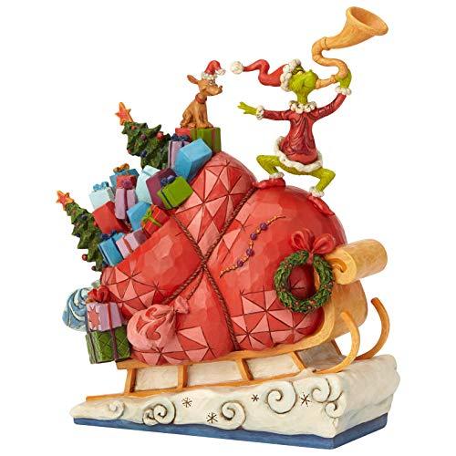 Enesco Dr. Seuss The Grinch by Jim Shore Sleigh Figur, Mehrfarbig, 9.13