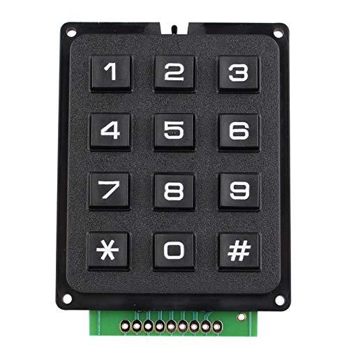 HALJIA 4 x 3 Matrix Array 12 Switch Tastatur Modul 12 Key MCU Membran Switch Keypad kompatibel mit Arduino inkl. Ebook