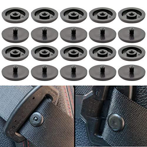 Bottoni Cintura di Sicurezza Auto, Set di 10, Bottone Pressione, Compatibile con Cinture Spessore 1,2 mm/0,47', Evita lo Scivolamento della Cintura, Bottoni in Plastica per Auto, Set da 10, Nero