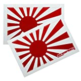 2Pc Rising Sun Japan/Japanese Flag Vinyl JDM Sticker Decal Stickerbomb Bomb for Nissan Altima