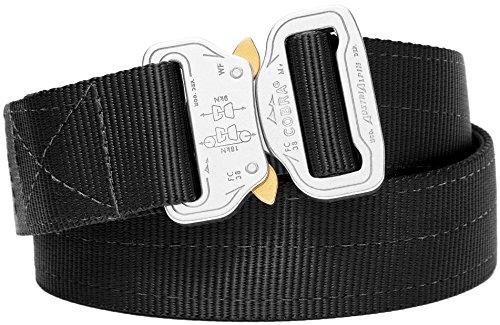 Klik Belts Tactical Belt –2 PLY 1.5' Nylon Heavy Duty Belt Quick Release Cobra Buckle - Unisex