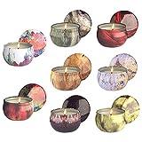 Velas de citronela natural de cera de soja con aceite esencial floral velas de viaje uso para aromaterapia estrés relajarse, decoración del hogar, yoga meditación, reiki