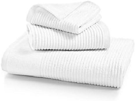Amazon Com Martha Stewart Quick Dry Reversible Bath Towel Collection Set White Home Kitchen
