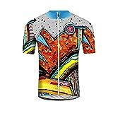 Uglyfrog Ciclismo Hombres Maillots de Bicicleta Jersey de Ciclismo de Visibilidad Extrema, de Manga Corta, Ajuste Slim Fit, Camiseta de MTB
