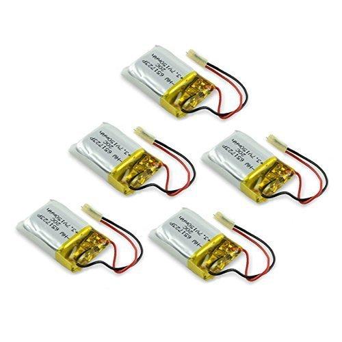 YUNIQUE ITALIA® 5 Pezzi Batteria Lipo Ricaricabile (3.7v, 150mAh Lipo) per Rc Elicottero Syma S107 S107G