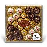 Ferrero Rocher Collection, Fine Hazelnut Milk Chocolates, 24 Count Gift Box, Assorted Coconut Candy and Chocolates, 9.1 oz, Perfect Easter Egg and Basket Stuffers