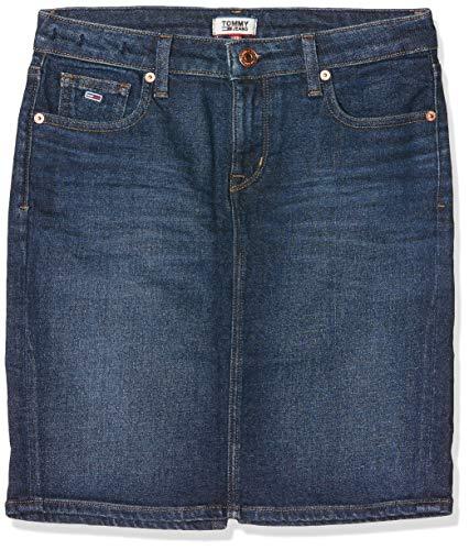 Tommy_Jeans REGULAR DENIM SKIRT ACDK Kleid Damen, Blau (Denim 1bj), Einheitsgröße (Herstellergröße:One Size)