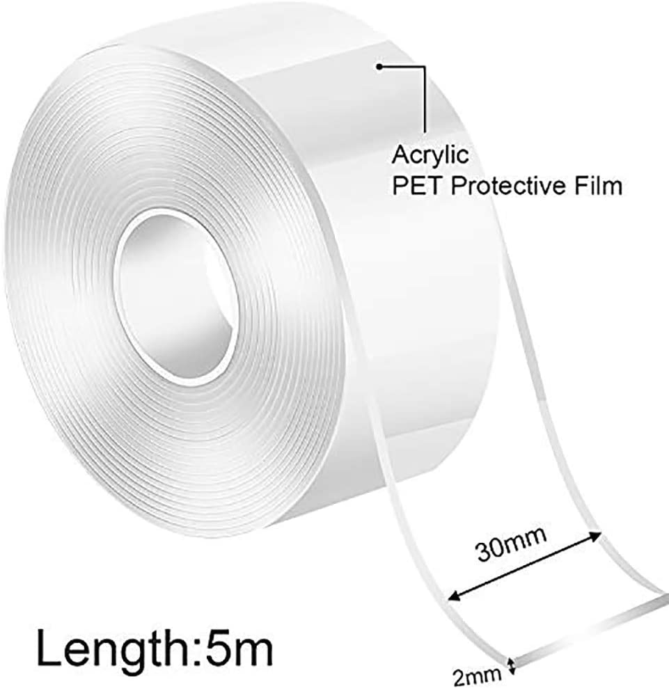 Nano Tape Max 64% OFF Double Side Popular products Tran Removable Silicone Adhesive