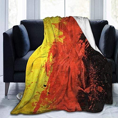 Couverture en Molleton Couleurs du Drapeau Allemand Microfibre Couvertures de literie légères Lit Super Doux Confortable canapé de Tapis de Yoga Chauds Couvertures L