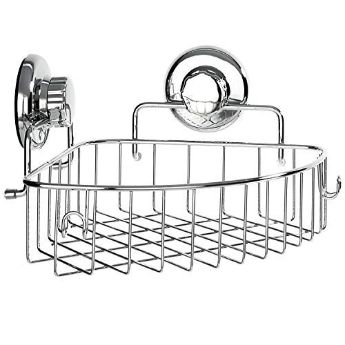 HASKO accessories - Corner Shower Caddy with Suction Cup -...