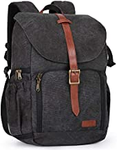 BAGSMART Camera Backpack, Anti-Theft DSLR SLR Camera Bag Water Resistant Canvas Backpack Fit up to 15