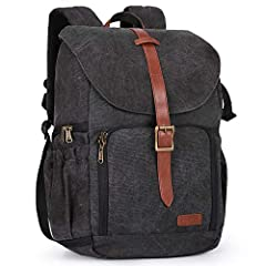 MAIN COMPARTMENTS- upper space for organizing clothing; lower camera zone for 1 DSLR camera with 70-200mm lens attached, 3-4 standard lenses DEDICATED POCKETS- 1 separate 15 inch laptop compartment with shock absorbing padding bottom; Tall, large sid...