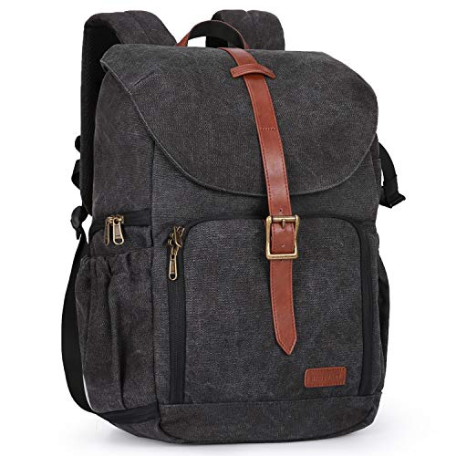 BAGSMART Camera Backpack, Anti-Theft DSLR SLR Camera Bag Water Resistant Canvas Backpack Fit up to...
