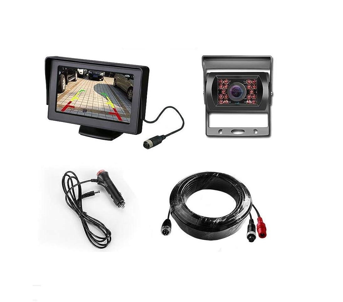 LWTOP Reversing Camera Monitoring Kit,4.3 Inch Display 1 Bus Aviation Interface Camera Reversing Image System, Bus/Truck/RV wihlqgdhvxo512