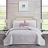 CHIXIN Juego de cama de matrimonio tamaño king, 3 piezas ligero para todas las estaciones, edredón de microfibra suave, 1 colcha y 2 fundas de almohada