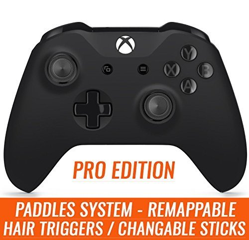 Pro Edition Xbox One S Custom Controller with Remapping on fly Buttons/Paddles, Hair Triggers, and Soft Touch Finish for All Major Shooter Games (with 3.5 jack)