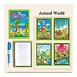 Logo FC Pluma 1set Montessori for Colorear Doodle Libro & Magic Pintura Tablero de Dibujo for extraer Agua de los niños Juguetes mágicos Libro Regalo de cumpleaños ZXH (Color : Zoo)