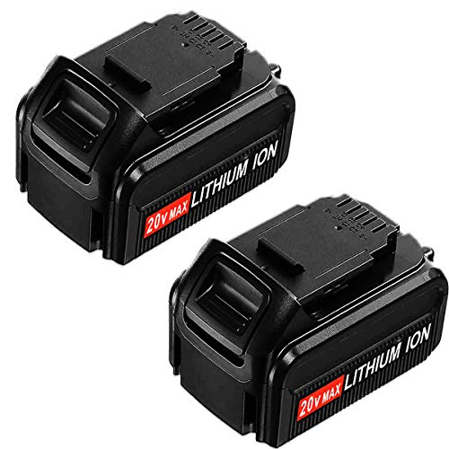 2Pack 20V Max 4.0Ah DCB205 Lithium Ion Replacement for Dewalt 20V Battery DCB204 DCB200 DCB206 DCB205-2 DCB201 DCB203 DCB181 DCB180 20 Volts DCD/DCF/DCG/DCS