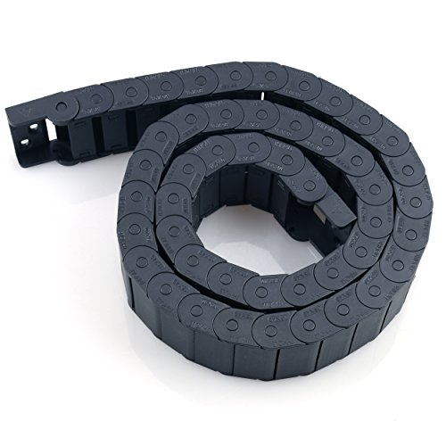 Cable Drag Chain URBEST Towline Wire Carrier 15mm x 40mm Half Open Type 1 M/ 33Ft Black Machine Tool