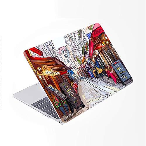 SDH Funda rígida para MacBook Air de 13 pulgadas, modelo A2337/A1932/A2179 con pantalla Retina compatible con Touch ID, Painting City 17