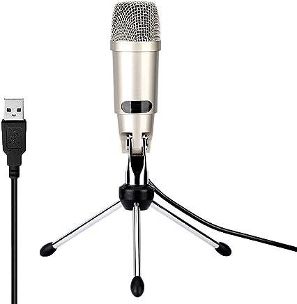 ZYG.GG PC Microfono, USB Plug Professionale Studio Domestico Condensatore Microfono per Podcast, Registrazione Ad Esempio Facebook, Skype, Youtube, con Cavalletto treppiede - Trova i prezzi più bassi