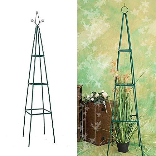 ZTCWS Garden Obelisk Trellis for Climbing Plants, Wrought Iron Metal Trellis Flower Support for Climbing Vines, Rose and Plants