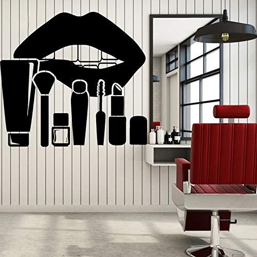 NSRJDSYT Lèvres Maquillage Autocollants Salon de beauté cosmétiques Vinyle décalcomanie décor à la Maison Filles Chambre décoration 86x91cm
