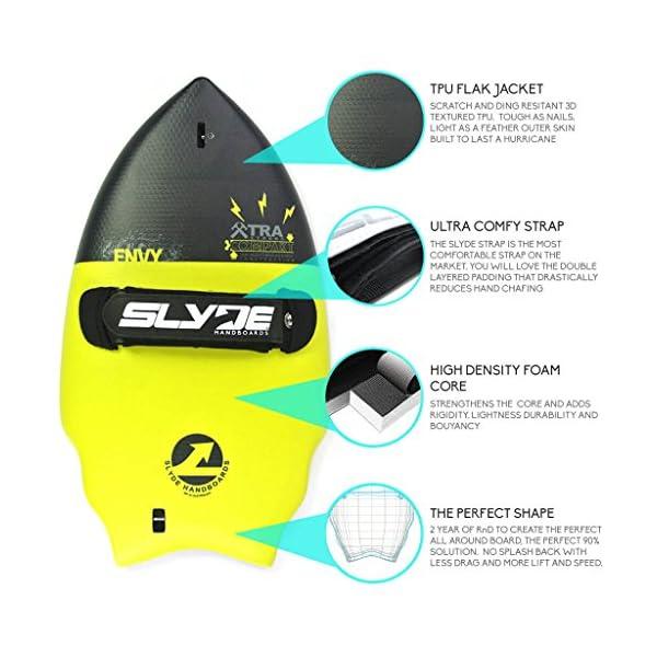 Slyde cuña Cuerpo Surfing handboard/Handplane con cámara integrada, Correa Enchufe de sujeción y Ajustable Correa 1