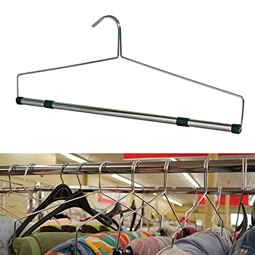 """Bedspread Fabric Tablecloth Chrome Display Hangers 22"""" Lot Of 36 New"""