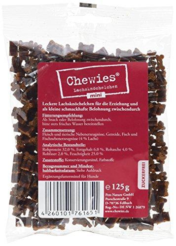 Chewies Hundeleckerli Lachsknöchelchen mini 125 g (1 x 125 g)