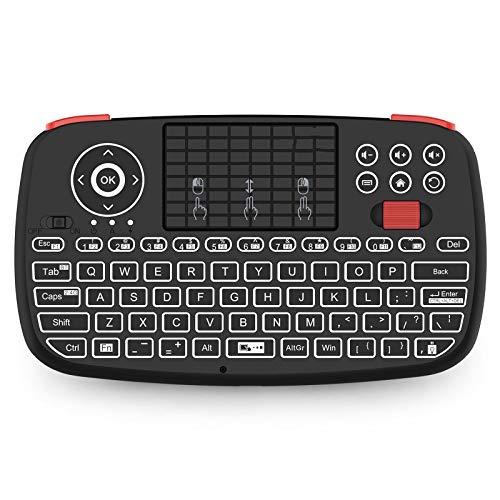 WZPG Mini Teclado Bluetooth, 2.4GHz Modos de Doble Modos Handheld Finger Touch TouchPad Control Remoto, Foranda/Windows