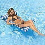 Xyl Ligeras tumbonas de la Piscina de Agua Cama Hamaca Silla Hamaca Balsas inflables flotantes Piscina al Aire para Adultos y niños compacta Piscina portátil de la Alfombra Azul flotantes