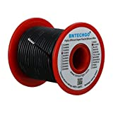 BNTECHGO 18 Gauge Silicone wire spool 100 ft Black Flexible 18 AWG Stranded Tinned Copper Wire