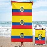 Yaxinduobao Toallas de Playa Bandera de Ecuador Sábanas de Toalla de baño Ropa de baño Manta de Secado rápido Baño Viaje Piscina Traje de baño Fundas Toallas novedosas Pies de alfombra282